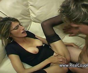 Mann gibt seiner Frau hart anal sex