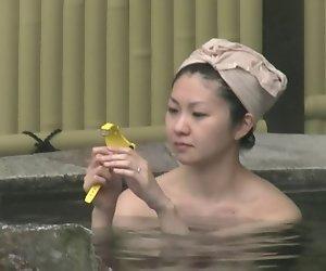 japan spring spa natürlichen Busch.
