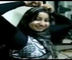 Ägypten Hijab Sekretär Treffen Chef Nach Der Arbeit