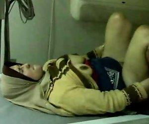 Schöne Ägyptische Hijab Girl Hart Gefickt