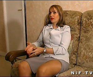 Französisch mom wird anal gefickt