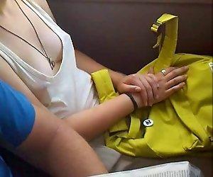 Downblouse auf den bus
