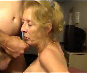 Granny hot suck dick und cum