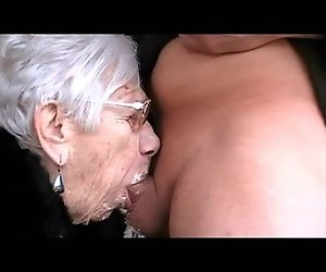 Grany Marge bekommt boy Schwanz für Ihren 90.Geburtstag