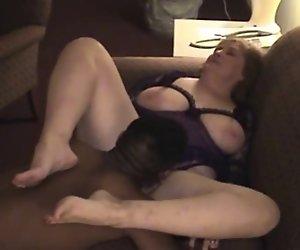 Reife BBW Ruft Ihre Titten Gespritzt